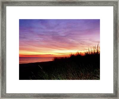 Lonely Beach At Sunrise Norfolk Va Framed Print by Susan Savad