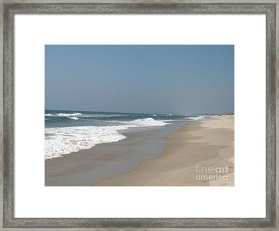 Lonely Beach On Cape Hatteras Framed Print by Christiane Schulze Art And Photography