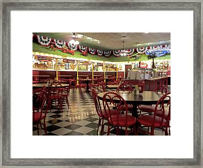 Lonely Cafe Framed Print by Thomas Woolworth