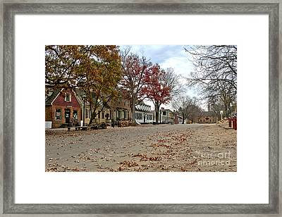 Lonely Colonial Williamsburg Framed Print by Olivier Le Queinec