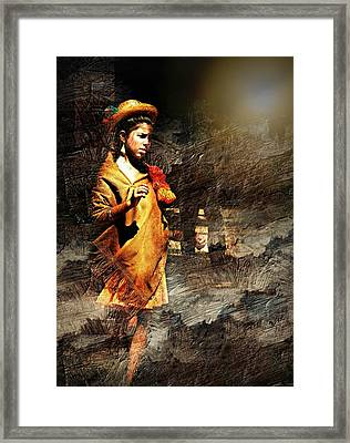 Lonely Girl Framed Print by Diana Angstadt