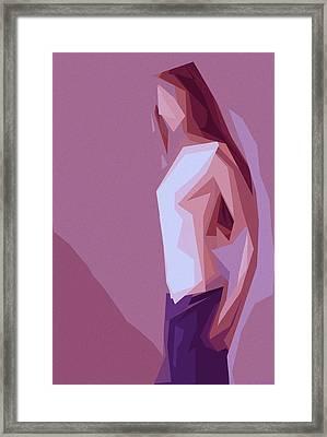 Lonely Girl Framed Print by Steve K