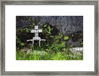 Lonely Grave Framed Print by James Brunker