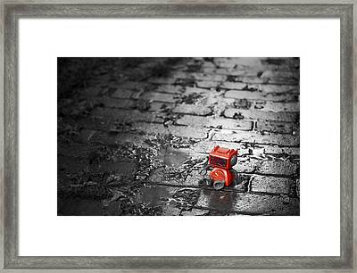 Lonely Little Robot Framed Print by Scott Norris
