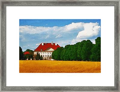 Lonely Mansion Framed Print by Ayse Deniz