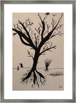Lonely Tree Framed Print by Drew Click