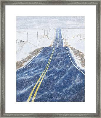 Lonesome Highway Framed Print by Garry McMichael