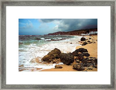 Long Bay - A Place To Remember Framed Print by Hannes Cmarits