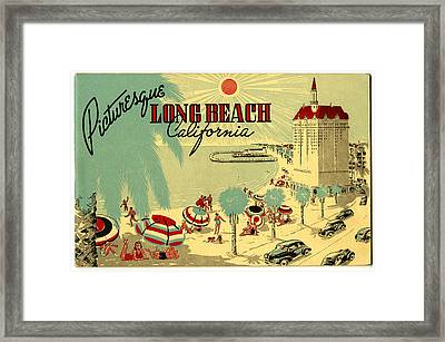 Long Beach 1946 Framed Print by Georgia Fowler