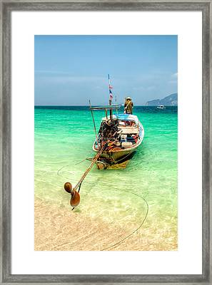 Long Boat  Framed Print by Adrian Evans