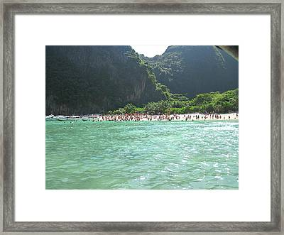 Long Boat Tour - Phi Phi Island - 0113119 Framed Print by DC Photographer