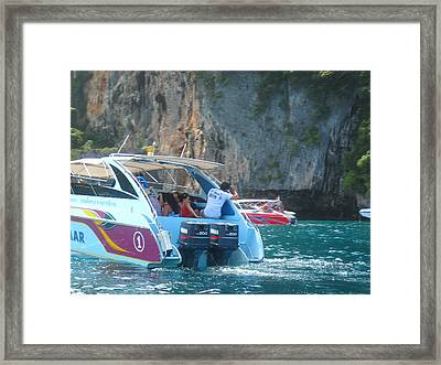 Long Boat Tour - Phi Phi Island - 0113169 Framed Print by DC Photographer