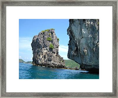 Long Boat Tour - Phi Phi Island - 0113192 Framed Print by DC Photographer