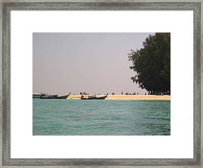 Long Boat Tour - Phi Phi Island - 0113213 Framed Print by DC Photographer