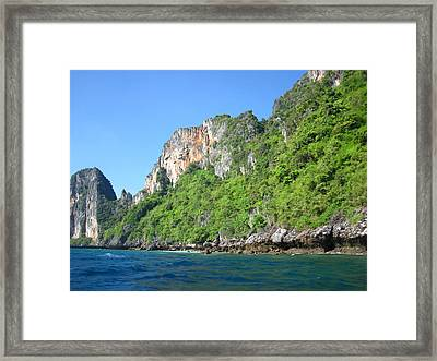 Long Boat Tour - Phi Phi Island - 011371 Framed Print by DC Photographer