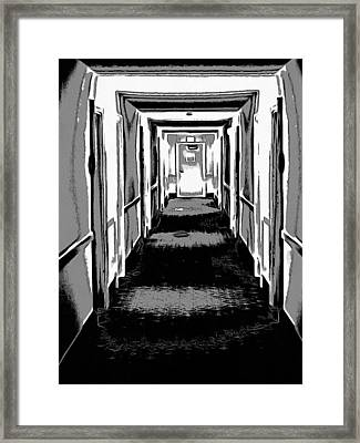 Long Hallway Framed Print by Dan Sproul