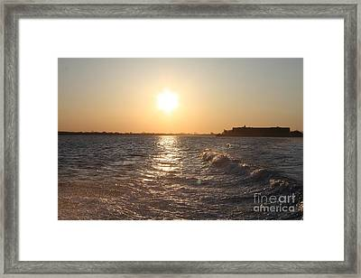 Long Island Sunrise Framed Print by John Telfer