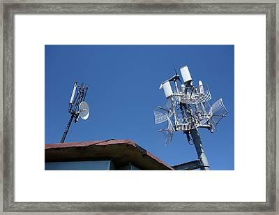 Long-range Wifi Antennae Framed Print by Cordelia Molloy