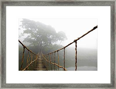 Long Rope Bridge Framed Print by Skip Nall