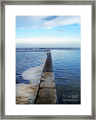 Long View To The Ocean Framed Print by Kaye Menner
