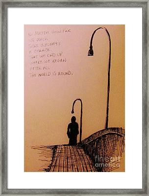 Long Walk  Framed Print by John Malone