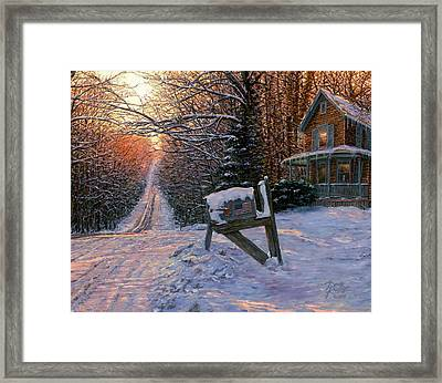 Long Way From Home Framed Print by Doug Kreuger