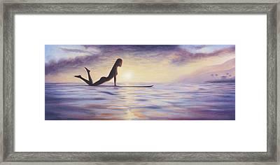 Longboard Love Framed Print by Kelly Meagher