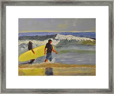 Longboard Framed Print by Paulette B Wright