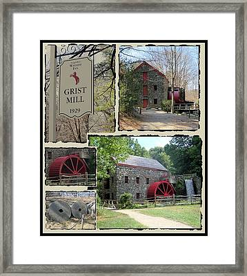 Longfellow's Grist Mill Framed Print by Patricia Urato