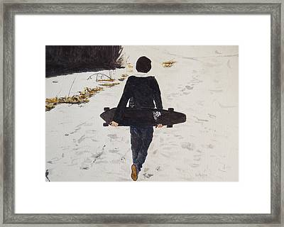 Longing For Spring Framed Print by Betty-Anne McDonald
