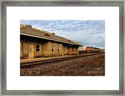 Longmont Depot Framed Print by Jon Burch Photography
