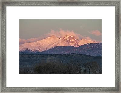 Longs Peak 1 Framed Print by Aaron Spong