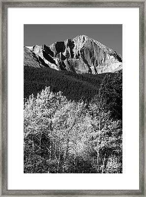 Longs Peak 14256 Ft Framed Print by James BO  Insogna