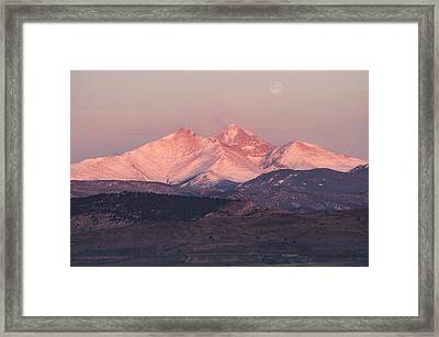 Longs Peak 4 Framed Print by Aaron Spong