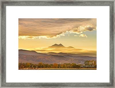 Longs Peak Autumn Sunset Framed Print by James BO  Insogna