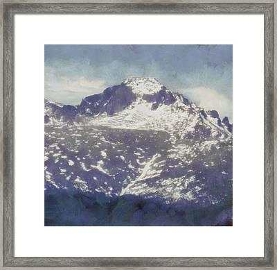 Longs Peak Framed Print by Dan Sproul