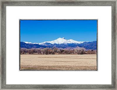 Longs Peak Framed Print by Tony Boyajian