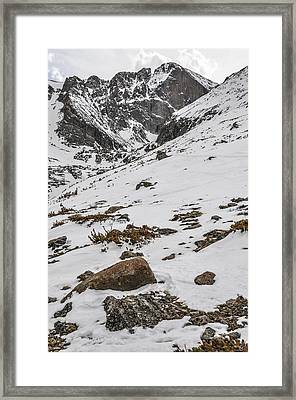 Longs Peak -  Vertical Framed Print by Aaron Spong