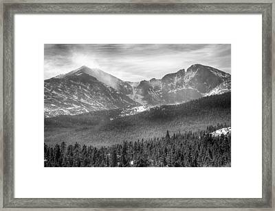 Longs Peak Winter View Bw Framed Print by James BO  Insogna