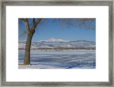 Longs Peaks Winter Landscape View Framed Print by James BO  Insogna