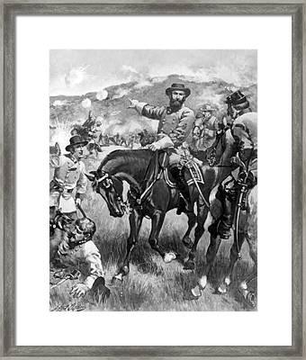 Longstreet At Gettysburg Framed Print by Henry Alexander Ogden