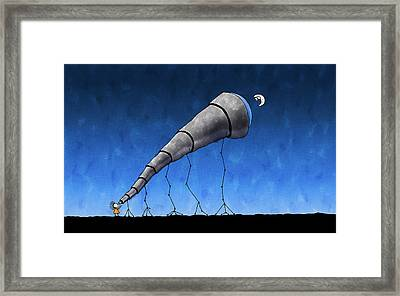 Look At Me Moon Framed Print by Gianfranco Weiss