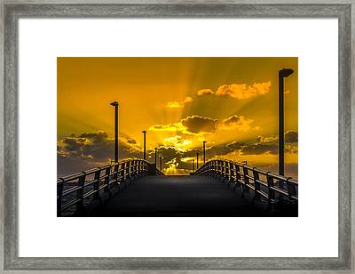 Look Into The Rays Framed Print by Marvin Spates
