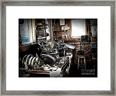 Look Into The Shop Framed Print by Ruth Jolly