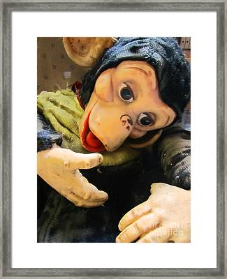 Look Ma No Thumbs Framed Print by Kym Backland