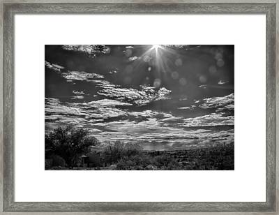 Look To The Western Sky Framed Print by Judi FitzPatrick