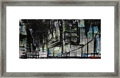Look Up Manhattan At Night Framed Print by Jack Diamond