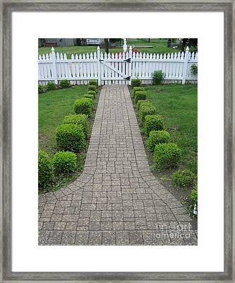 Lookin Out My Front Door 2 Framed Print by Margaret Newcomb