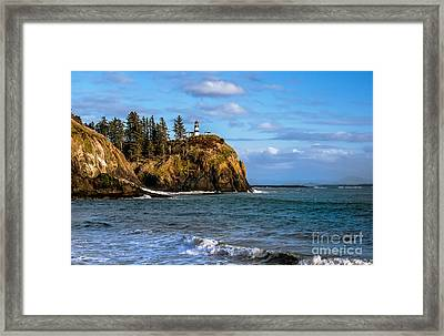 Looking At Cape Disappointment Framed Print by Robert Bales