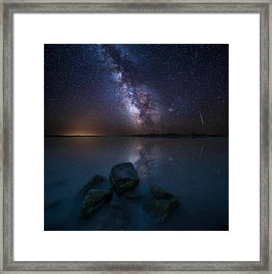 Looking At The Stars Framed Print by Aaron J Groen